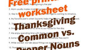 thanksgiving common vs proper nouns worksheet squarehead teachers
