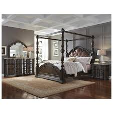 Girls Canopy Bedroom Sets Pulaski Cortina 4 Pc California King Canopy Bedroom Set Wood