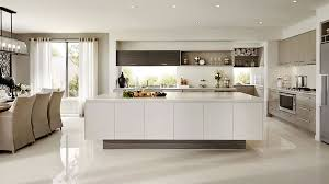 Interior In Kitchen Visualization For Family House With Cream Color Interior In
