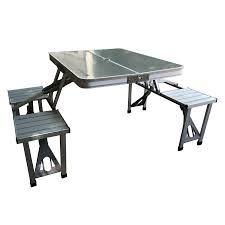 folding table with bench folding picnic table with benches shoppy