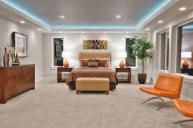 Master Bedroom Lights Modern Master Bedroom Illuminated With Modern Chandelier And