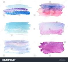 abstract backgrounds set watercolor brush paint stock vector