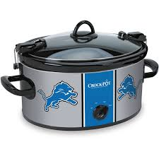 Detroit Lions Home Decor by Crock Pot Nfl 6 Quart Slow Cooker Detroit Lions Walmart Com