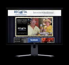 regatta restaurant web site design lafayette web design