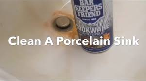 remove rust from sink how to clean porcelain sink remove rust stains bar keepers friend