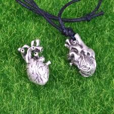 aliexpress heart necklace images Online shop punk anatomia heart pendant anatomy jewelry anatomical jpg