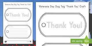 veterans day dog tag thank you craft army navy coast guard