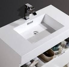 modern wall mount sink bliss 36 high gloss white wall mount modern bathroom vanity
