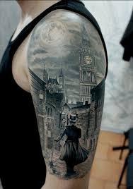 gothic moon arm delightful tattoos women design idea for men and women