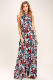light blue halter maxi dress lovely light blue dress floral print dress maxi dress 58 00