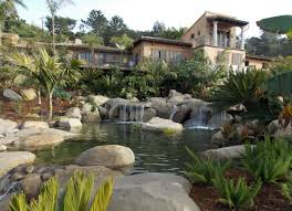 backyard waterfalls garcia rock and water design blog koi pond