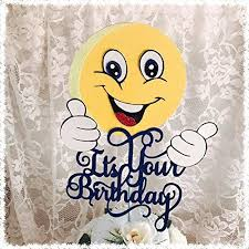 amazon com birthday cake topper emoji birthday handmade