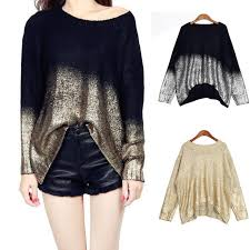 sweaters womens golden knitted pullover oversized sweaters womens