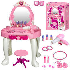 table toys play table funky buys glamour mirror dressing table play set w light