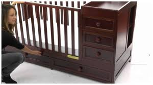 Baby Cribs That Convert To Toddler Beds by Cherry Convertible Baby Crib Toddler Bed Youtube