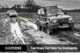 white jeep stuck in mud amazon com ultimate tow recovery strap 35000lb recover your