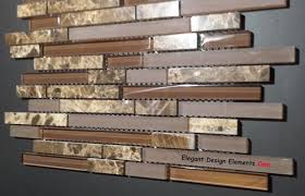 Stone Mosaic Tile Kitchen Backsplash by Polished Dark Emperador Stone Mosaic U0026 Brown Glass Tile Kitchen