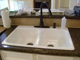 white sink black countertop double kitchen sink faucets on calm countertops color and white