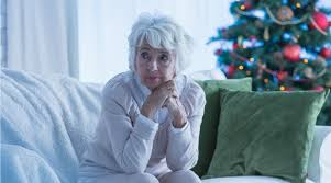 lonely senior women dealing with loneliness at christmas