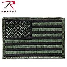 Backwards Us Flag Rothco Iron On Sew On Embroidered Us Flag Patch