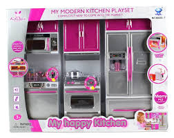 barbie kitchen furniture amazon com my modern kitchen dishwasher stove refrigerator