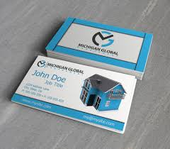 global property management elegant playful business card design for michigan global by