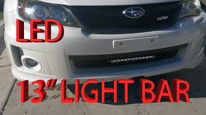 Led Light Bar For Cars by Subaru Impreza Wrx Led 13 Inch Lightbar Install Video Youtube
