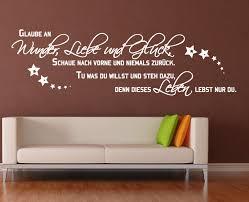 schlafzimmer spr che wandtattoo wandaufkleber sprüche liebe wunder glück wohnzimmer