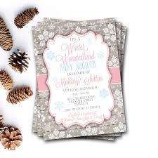 Winter Wonderland Baby Shower Winter Wonderland Baby Shower Invitation Winter Baby Shower