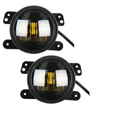 jeep yellow 2017 upgraded 4inch led amber yellow fog lights for 2007 2017 jeep