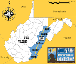 Virginia Mountains Map by Map Mountain Music Trail