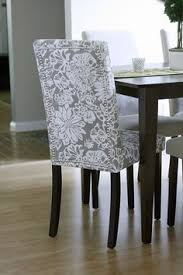 Dinning Chair Covers Dropcloth Slipcovers For Leather Parsons Chairs Slipcovers
