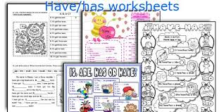 english teaching worksheets have has