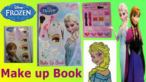 frozen artist book elsa makeup toy tutorial kids