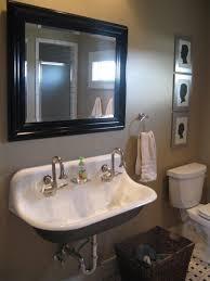 trough sink vanity trough sink vanity bathroom with concrete