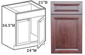 Bathroom Vanity Base Cabinets Bathroom Vanity Base Cabinet 24 Walnut Raised All Solid Wood Ready