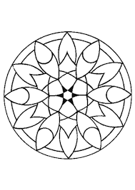 simple flower mandala coloring free printable coloring pages