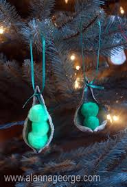 handmade peas in a pod ornament alanna george the