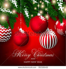 merry christmas happy new year card stock vector 352400612
