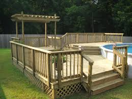above ground pool decks hgtv with image of luxury above ground