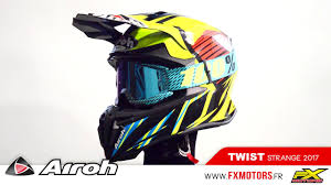 motocross helmet graphics casque motocross airoh twist strange blue 2017 youtube