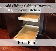 Kitchen Cabinet Sliding Drawers Our Home From Scratch