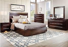 Espresso Bedroom Furniture by Marbella Espresso 5 Pc Queen Platform Bedroom Bedroom Sets Dark Wood