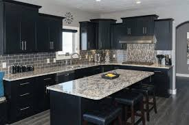 black cabinet kitchens large green open shelves wooden ceiling