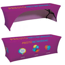 Custom Fitted Table Covers by 8 U0027 Fitted Stretch Trade Show Table Cover
