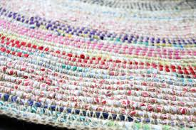 How To Make Braided Rug Coil Crochet Scrap Fabric Rug Diy My Poppet Makes