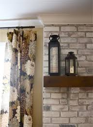 interior fireplace whitewash whitewash brick wall