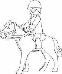coloriage playmobil a cheval coloriage pinterest playmobil