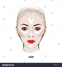 contour highlight makeup contouring face makeup stock vector