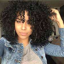 best hair style for kinky hair plus woman over 50 amazon com aisi hair synthetic afro curly hair wigs for black